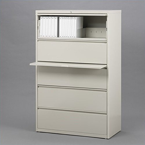5-Drawer File Cabinet Finish: Putty
