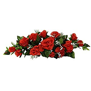 Red Swag ~ Roses Silk Wedding Flowers Wonderful ~ Centerpieces Decorations Unity Bridal 43