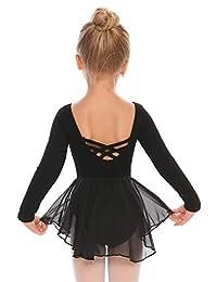 Arshiner Kids Girls Classic Long Sleeve Leotard Dance Ballet Dress