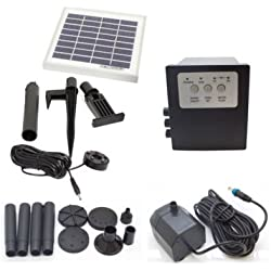 Garden Sun Light Solar Powered Outdoor 3 WattGarden Water Pump Landscape Fountain Kit