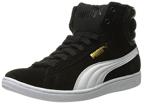 Puma WoMen Vikky Mid Sfoam Fashion Sneaker, Black, US Puma Black/Puma White