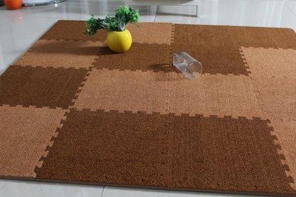 Fußmatten Teppich Kinder Haus Plüsch Puzzle aus weichem Schaumstoff EVA–30cm * 30cm * 1cm, Kunststoff, Model 13, 112