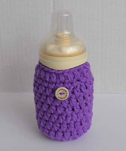Handmade Bottle Cover Durable High Quality - Purple
