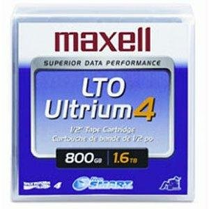 "Maxell 1/2"""" Ultrium LTO-4 Cartridge, 2600ft, 800GB Native/1"