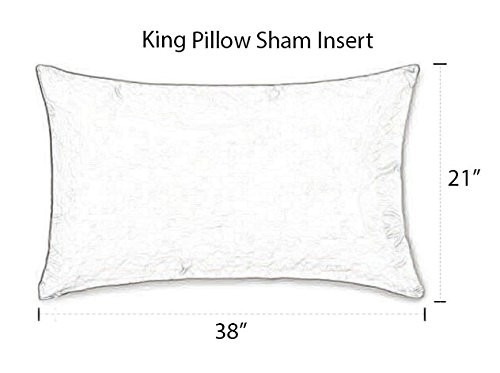 Resort Spa Home Decor Set of 2 Pillow Insert Form - Square & Rectangle Sizes, Choose Size - Indoor/Outdoor - USA Handmade (21'' x 38'' ~ King Sham)