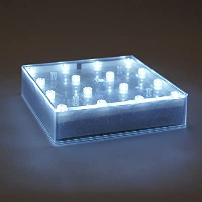 LumaBase 69801 Square Battery Operated BaseLite Display Lights, White