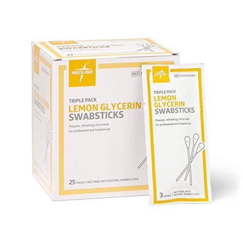 Lemon Glycerine Swabsticks - Medline Lemon Glycerin Swabsticks, Swabs for Dry Mouth, 750 Count