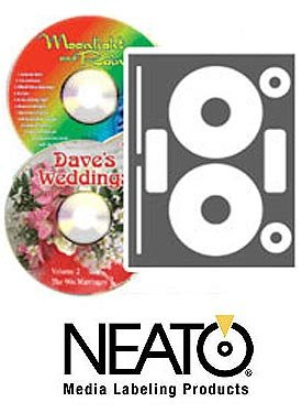 Neato - High Gloss Photo Quality CD/DVD Labels - 100 Pack