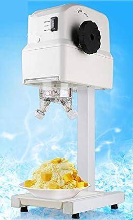 Mini Electric Máquina de hielo arena comercial/uso doméstico DIY Frutas helado máquina para hacer helado doble cabeza: Amazon.es: Hogar