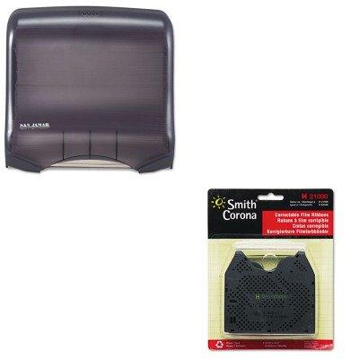 KITSJMT1750TBKRDSMC21000 - Value Kit - Smith Corona 21000 Correctable Ribbon (SMC21000) and San Jamar Ultrafold Towel Dispenser (SJMT1750TBKRD)
