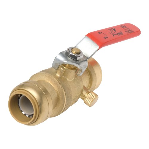 SharkBite 22305-0000 Ball Valves, 3/4-Inch (Lever Brass Faucet Forged Single)