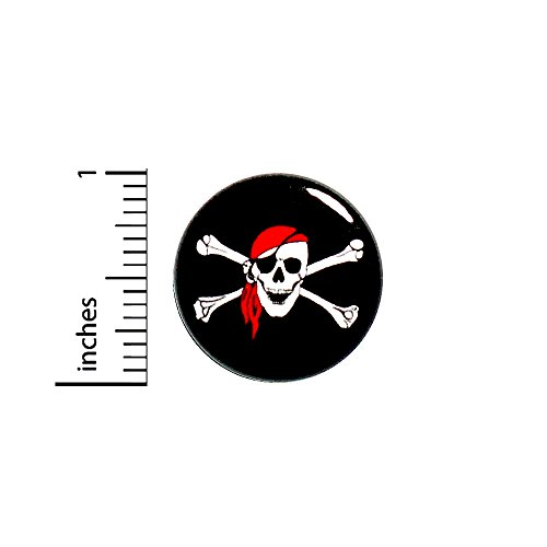 Skull and Crossbones Pirate Button Pin Gift Random Humor Jacket Pinback 1
