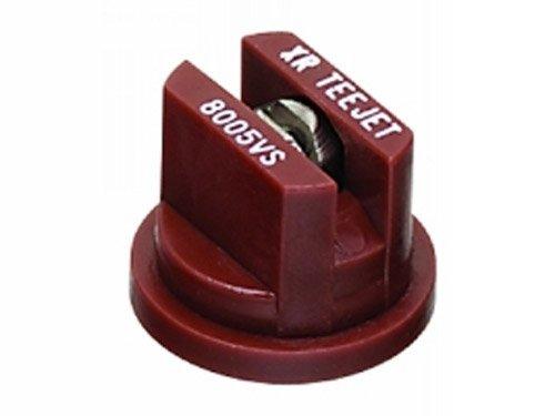 TeeJet XR8005VS Extended Range Spray Tip, 0.31-0.61 GPM, 15-60 psi, Stainless Steel - Brown ()