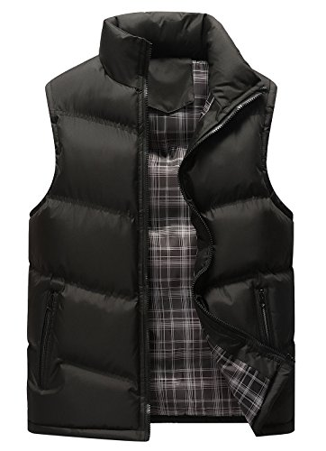 Sport Puffer Vest (Gihuo Men's Lightweight Active Quilted Padding Puffer Vest Winter Warm Gilet (X-Large, Black))