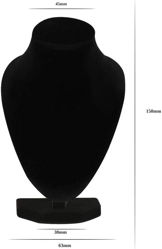 73JohnPol Durable Noir Mannequin Collier Bijoux Pendentif Pr/ésentoir Titulaire Show D/écorer D/écorer Bracelet Organisateur De Bijoux Couleur: Noir