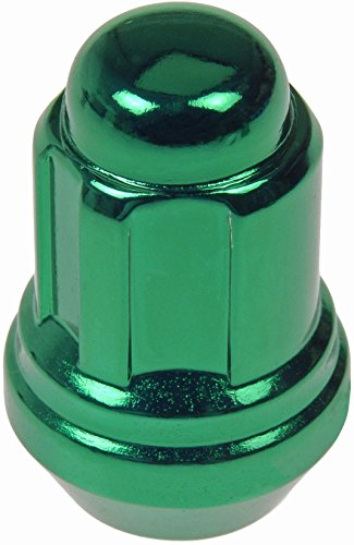 Dodge Conquest Brake - Dorman 711-335F Pack of 16 Green Wheel Nuts and 4 Lock Nuts with Key