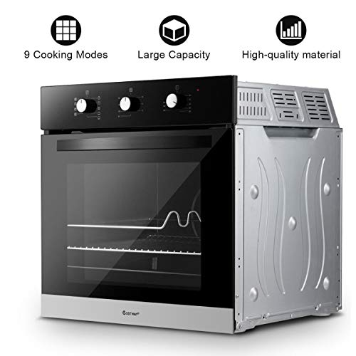 KCHEX>>24″ Electric Built-in Single Wall Oven 220V Tempered Glass Push Buttons Control>> It is an Extremely Versatile Appliance That Allows You to Choose Easily and Safely Between Different Cooking