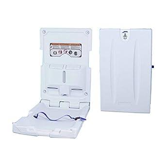 Jofel AY11000 Cambiador de Pañales Vertical, HDPE Antibacteriano, Blanco