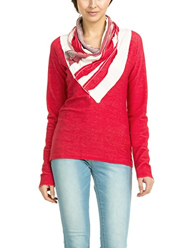 Desigual Women's Anast Woman Knitted Sweat-Shirt Long Sleeve, Red, Large