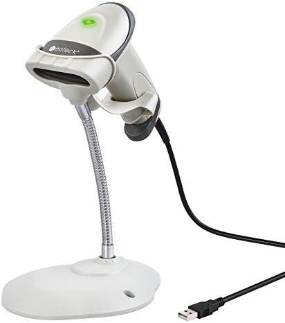 [Gesponsert]Neoteck Barcode Scanner USB Automatisch Barcodescanner Handscanner mit Verstellbarer Halterung und bequemem Handgriff POS Laser Scanner Kompatibel mit Mac Win10 Win7 Win8.1 iOS7 Linux usw - Grau