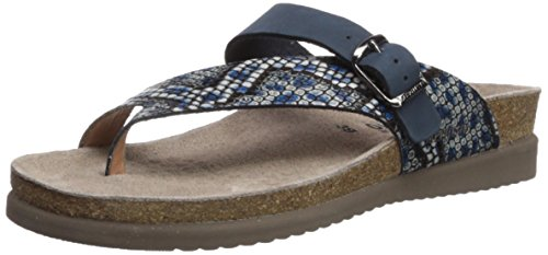 (Mephisto Women's Helen Mix Slide Sandal, Blue Reptilia, 11 M US)