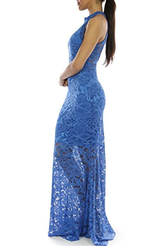 Mittelblau Damen Bling Abendkleid Bling Lady qwT6IE