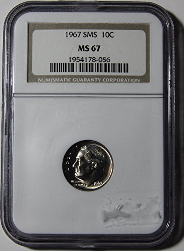 1967 Roosevelt Dime MS-67 NGC - Ms67 Dimes