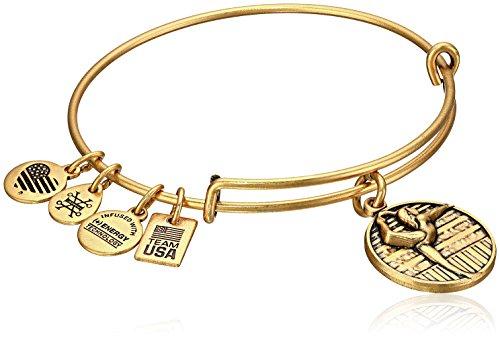 Alex and Ani Team USA Gymnastics Expandable Rafaelian Gold Bangle Bracelet