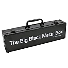 The Big Black Metal Box by Soundbass® for Cards Against Humanity Card Game. Fits the Main Game + All 6 Expansions. Includes 8 Dividers. Fits up to 1550 Cards. Card Game Sold Separately. Travel Case.