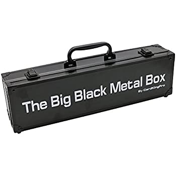 Cards Against Humanity Case   The Big Black Metal Box (LONG Edition) By CardKingPro (Game Not Included)   Includes 8 Dividers   Fits up to 1400 Loose Unsleeved Cards