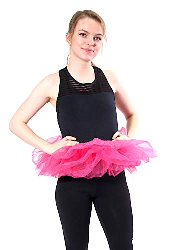 Adult Poofy Ballet Style Tutu for Holiday Costume, Princess Tutu, Ballet Tutu, Dance Outfit, or Fun Run Hot Pink -