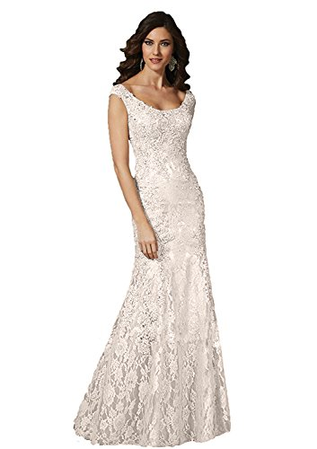 ivory mother of the bride plus size dresses - 9