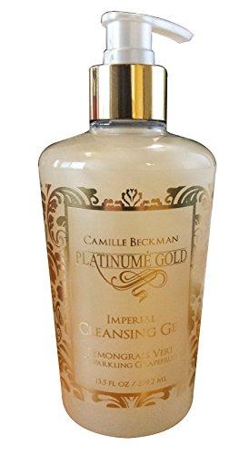 (Camille Beckman Platinume Gold Imperial Cleansing Gel, Lemongrass Vert & Sparkling Grapefruit, 13.5 oz)
