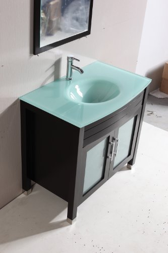 roca bathroom sinks eviva roca 30 quot espresso bathroom cabinet with integrated 14235 | 414eVYuuYZL