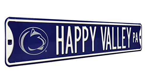 NCAA Happy Valley PA Logo Street Signstreet Sign, Team Color, 36