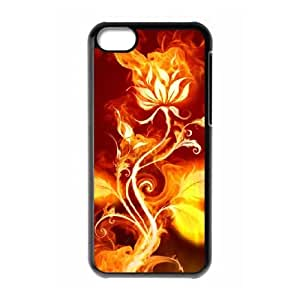 iPhone 5c Cell Phone Case Black Fire O6669956