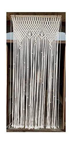 cortina de macrame 4 (cuerda de algodón) Se hace a medida