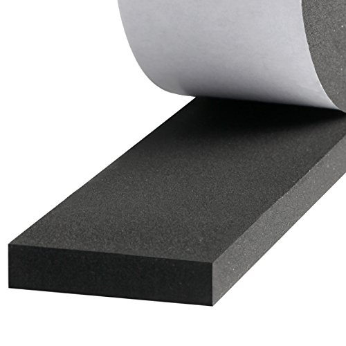 Insulation Foam, Self Adhesive Weather Stripping for Doors and Windows Soundproofing Closed Cell Foam Seal Tape 2 Inch Wide X 3/8 Inch Thick X 6.5 Feet Long (2in 3/8in)