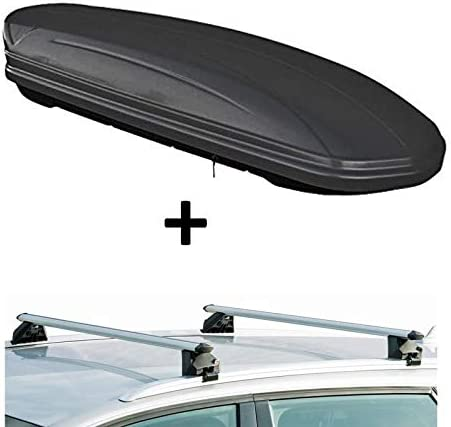 Dachbox Vdpmaa320 320ltr Abschließbar Schwarz Matt Dachträger Crv107a Kompatibel Mit Dacia Lodgy 5 Türer Ab 2012 Auto