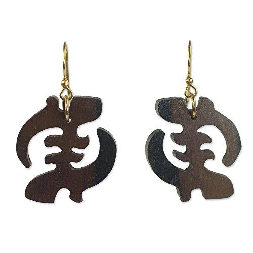 Gye Nyame Ring (NOVICA Brass Wood Wood Earrings 'Elegant Gye Nyame')