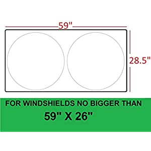 Windshield Sun Shade -Sunshades made with 210T fabric (highest quality possible) for maximum UV and Sun protection –Car shades that keep your car cooler-Foldable Windshield sunshade (Standard)
