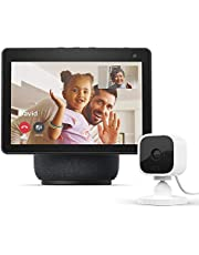 $254 » All-new Echo Show 10 (3rd Gen) | Charcoal with Blink Mini Indoor Smart Security Camera, 1080 HD with Motion Detection