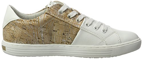Marco Tozzi 23605, Zapatillas para Mujer Blanco (White/cork 140)
