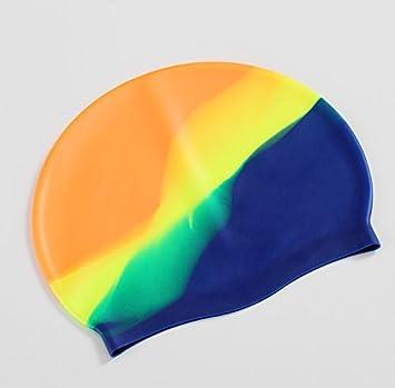 antidesgarro Gorro de nataci/ón de silicona moldeada para adulto m/ás fuerte que los gorros de nataci/ón de l/átex Xueliee