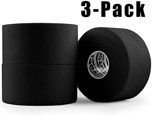 Black Athletic Tape - 45ft Per Roll - No Sticky Residue & Easy to Tear - for Sports Athletes & Crossfit Trainers as First Aid Injury Wrap: Fingers Ankles Wrist - 1.5 Inch x 15 Yards per Roll (3 Pack)