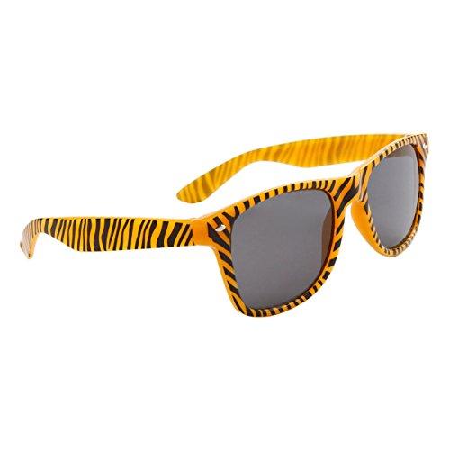 Unisex Glow in the Dark Zebra Print Sunglasses (Orange)