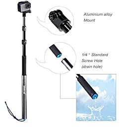 Smatree SmaPole S3 Detachable Extendable Floating Pole with Tripod Stand for GoPro Hero 5/4/3+/3/2/1/Session (12.5\