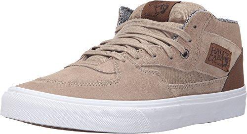 a3013af942 Galleon - Vans Half Cab C L Silver Mink True White Men s Shoes Size 8