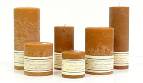 Ginger and Orange 4 x 9 Textured Pillar Candles