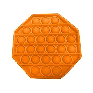 1PC Push pop Bubble Fidget Sensory Toy Autism Special Needs Stress Reliever (Orange)